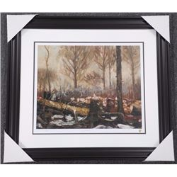 Tom Thomson (1877-1917) Litho 'Early March' LE with Gold Seal. Gallery Framed. 30x34""