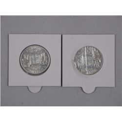 2x Australia - 1943/1944 Florin Silver Years (ATTN: 2 Times the bid price)