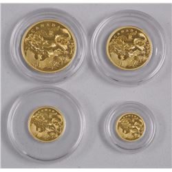 RCM Issue - .9999 Fine Pure - 2012 Gold Fractional Set 'Year of the Dragon' (EEXR) 4 Coin set. LE/15