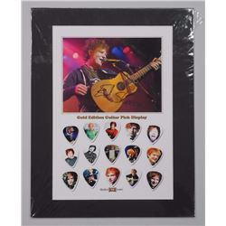 'Ed Sheeran' 15pc Guitar Pick Collection with Photo Card. 11x14 LE/100