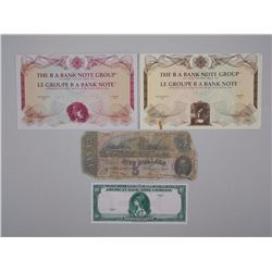 Lot - Notes and Specimen Samples; 1929 American Banknote Company; The BA Bank Note Group. Engraved P