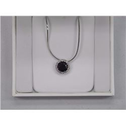 Ladies Fancy Custom Pendant and Chain with 5.50ct Swarovski Elements and .50 Around. SRRV: $330.00