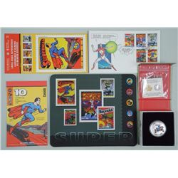 RCM .9999 Fine Silver Superman Coin Action Comics # 1 with Stamp Folio