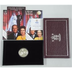 Golden Wedding - Commemorative Crown - 1997 - 925 Silver proof 5 Pounds