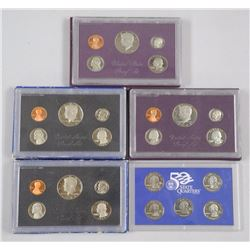 Lot (5) USA Mint Coin Sets