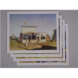 4x A.J. Casson (1898-1992) 'Through My Eyes Collection' 17x22 unframed with BIO and C.O.A. (ATTN: 4