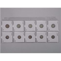 10x George and Victoria 5 Cent and 10 Cent Coins (ATTN: 10 Times the bid price)