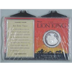 The Lion King - 999 Fine Silver LE Coin, Cased with C.O.A.
