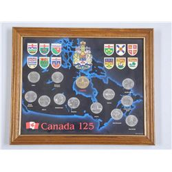 Canada 125 - Collection Coins Framed 8x10