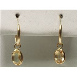 #11-14KT YELLOW GOLD YELLOW SAPPHIRE EARRINGS