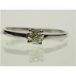 #20-10KT WHITE GOLD DIAMOND SOLITAIRE RING