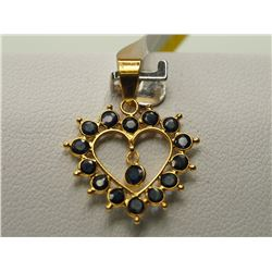 #25-18KT YELLOW GOLD SAPPHIRE PENDANT