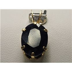#37-14KT YELLOW GOLD SAPPHIRE PENDANT
