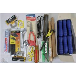 FLAT OF NEW ASSORTED TOOLS INCLUDING ALLAN KEYS,