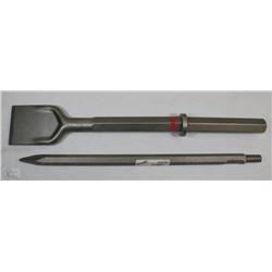 "HILTI 1 1/8"" WIDE FLAT CHISEL 20"" SOLD WITH"