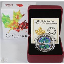 36) RCM 2014 $10 FINE SILVER COIN-O CANADA-THE