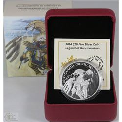 28) RCM 2014 $20 FINE SILVER COIN-A CANADIAN