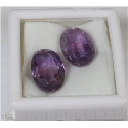 138) NATURAL AMETHYST 2 PCS 18.5CT NO TREATMENT