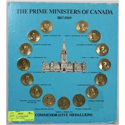 BB) 1867-1969 CARDED PRIME MINISTERS OF CANADA