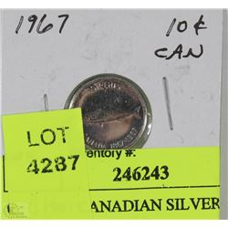 CW) 1967 CANADIAN SILVER DIME