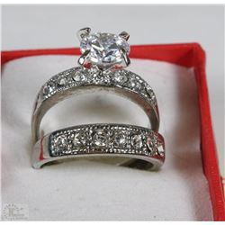 WHITE GOLD PLATED WEDDING SET