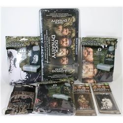 BOX OF NEW DUCK DYNASTY ITEMS INCLUDING