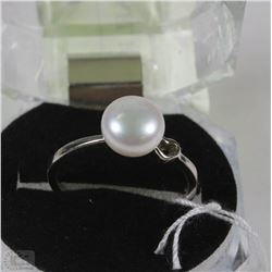#17-FRESH WATER PEARL RING .925 STERLING SILVER