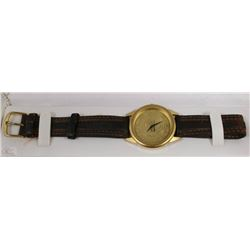 U OF A GOLD FACE MEN'S WATCH