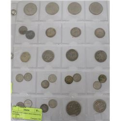ESTATE COIN SHEET INCLUDES FIVE $1 COINS,