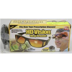 BOX W/NEW HD VISION WRAP-AROUNDS -