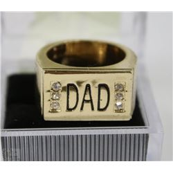 GOLD PLATED RING DAD GIFT SIZE10