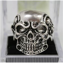 MEN'S HEAVY STAINLESS STEEL SKULL RING