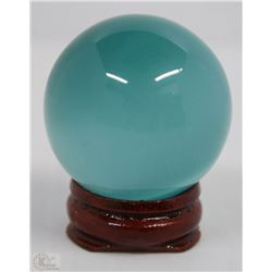 #2-BLUE CATE EYE SPHERE CRYSTAL QUARTZ