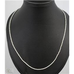 WOMEN SILVER PLATED TWIST CHARM CHAIN