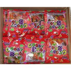CASE OF 24-120G GOODY BAGS ASSORTED GUMMY CANDY