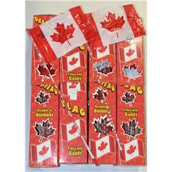 CASE OF CANADIAN FLAG CANDIES (4 BOXES OF 18 IN