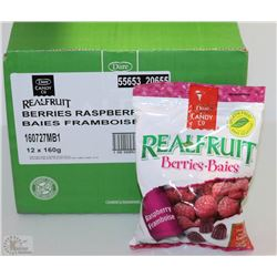 "CASE OF 12-160G OF REAL FRUIT ""BERRIES"" CANDY"