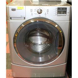 GREY MAYTAG FRONT LOAD WASHING MACHINE