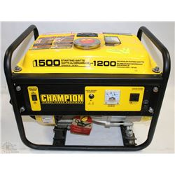 CHAMPION GENERATOR 1500STARTING WATTS 1200 RUNNING