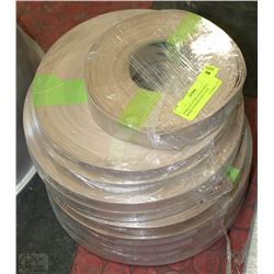 10 ROLLS OF PRE GLUED REAL WOOD VENEER EDGE TAPE