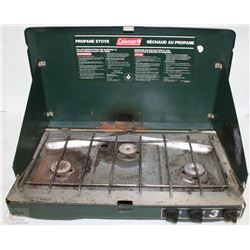 COLEMAN PROPANE CAMP STOVE (USED)