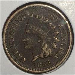 USA 1863 Indian Head Penny