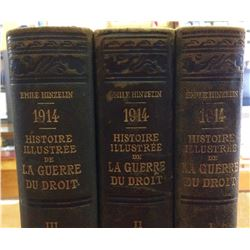Vintage French book Printed in 1916 Histoire Illustrée du Droit 3 book on the First World War 1914,