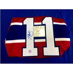 Montreal Canadiens Brian Gallagher authographed Hockey Jersey with Certificate