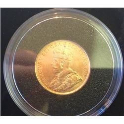 1912 Five Dollars Gold Coin King George V - 8.359 gr .900 % GOLD, 21,60MM