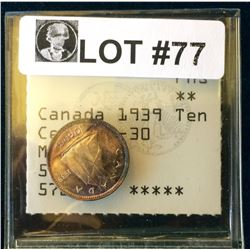 Canada: 1939 10 Cents MS-65