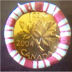 Canada 2004 No P, NON Magnetic Penny Roll