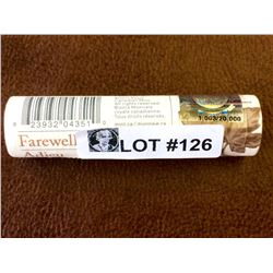 Canada Last Penny Roll Official farewell to the Penny serial: 1,003/20,000