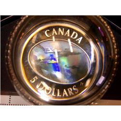 MRC:  2006 Sterling Silver 5 $ Hologram  The Canadian Forces Snowbirds Set With Stamps