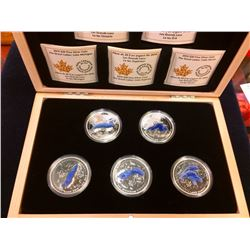 RCM: 2015 $20 The Great Lakes - Pure Silver 5-Coin Set with Display Case